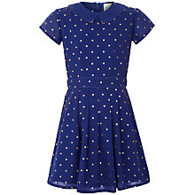 Buy Yumi Girl Starry Print Dress, Blue Online at johnlewis.com