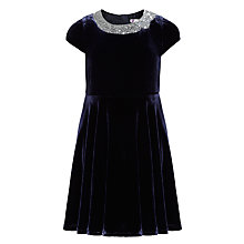 Buy John Lewis Girl Velvet Dress, Blue Online at johnlewis.com