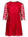 John Lewis Girl Lace Party Dress, Red