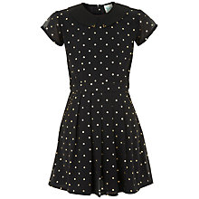 Buy Yumi Girl Starry Print Dress, Black Online at johnlewis.com