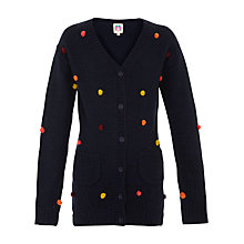 Buy Yumi Girl Bobble Cardigan, Navy/Multi Online at johnlewis.com