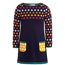 Buy John Lewis Girl Spot Knit Dress, Navy/Multi Online at johnlewis.com