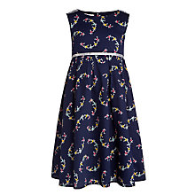 Buy John Lewis Girl Patterned Woven Dress, Blue Online at johnlewis.com