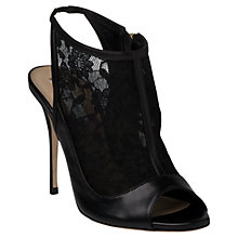 Buy L.K. Bennett Rhona Lace Peep Toe Boots, Black Online at johnlewis.com