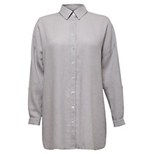 Buy East Oversized Linen Shirt, Mist Online at johnlewis.com