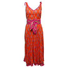 Buy East Kendra Crinkle Dress, Mandarin Online at johnlewis.com