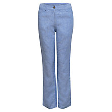 Buy East Cross Dye Linen Jeans, Sky Online at johnlewis.com