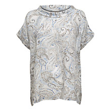 Buy East Linen Watercolour Bardot Neck Top, Multi Online at johnlewis.com