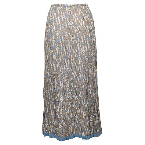 Buy East Uma Crinkle Maxi Skirt, Multi Online at johnlewis.com