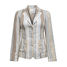 Buy East Henley Stripe Jacket, Stone Online at johnlewis.com