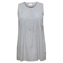 Buy East Sleeveless Pinstripe Shirt, Multi Online at johnlewis.com