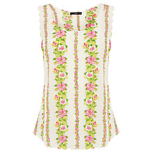 Buy Oasis Lily Stripe Scallop Vest, Multi Online at johnlewis.com