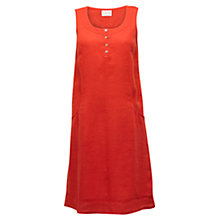 Buy East Iris Linen Pocket Dress, Mandarin Online at johnlewis.com
