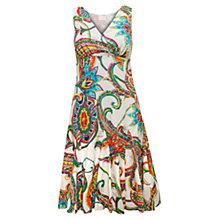 Buy East Festival Paisley Print Dress, White / Multi Online at johnlewis.com