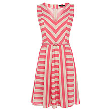 Buy Oasis Multi Stripe Viscose Dress, Multi Online at johnlewis.com