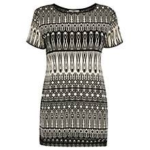 Buy Oasis Tribal Burnout T-Shirt, Multi Black Online at johnlewis.com