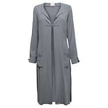 Buy East Crepe Longline Jacket, Darkmist Online at johnlewis.com