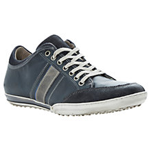 Buy Dune Tipple Panel Leather Trainers, Navy Online at johnlewis.com