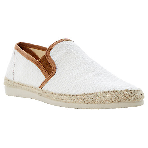 Buy Dune Flounder Espadrilles, Off White Online at johnlewis.com