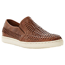 Buy Bertie Bradley Woven Leather Slip-On Shoes, Tan Online at johnlewis.com
