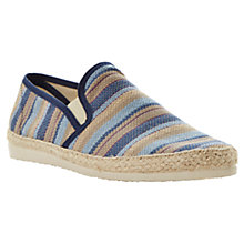 Buy Dune Frisky Espadrilles, Blue Online at johnlewis.com