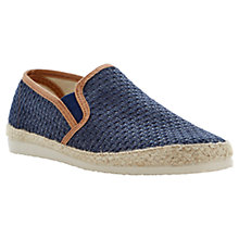 Buy Dune Flounder Espadrilles, Navy Online at johnlewis.com