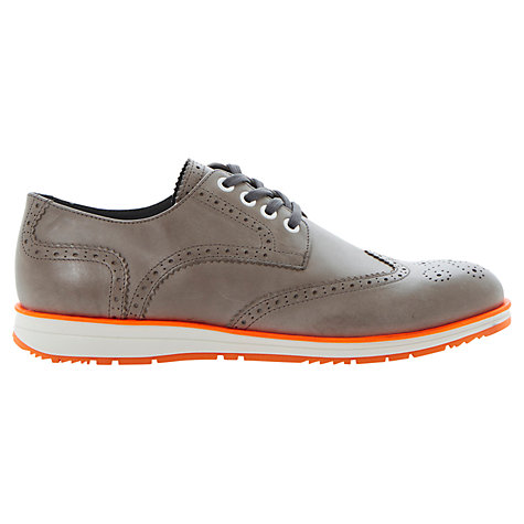 Buy Bertie Boombox Leather Brogue Shoes, Grey Online at johnlewis.com