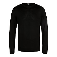 Buy BOSS Wool Crew Neck Jumper Online at johnlewis.com