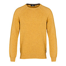 Buy BOSS Dellatorre Crew Neck Jumper, Mustard Online at johnlewis.com