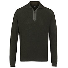Buy BOSS Daggis Sweater, Grey Online at johnlewis.com