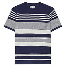 Buy Reiss 1971 Jackson Short Sleeve T-Shirt, Navy Online at johnlewis.com