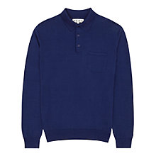 Buy Reiss Moorly Long Sleeve Polo Shirt, French Blue Online at johnlewis.com