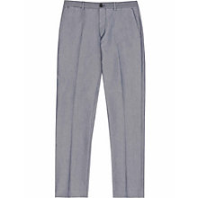 Buy Reiss Weston Patterned Trousers, Indigo Online at johnlewis.com