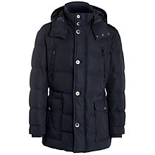 Buy BOSS Deave Padded Jacket, Black Online at johnlewis.com