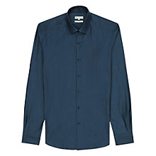 Buy Reiss Harrington Shirt, Indigo Online at johnlewis.com
