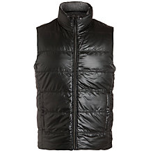 Buy BOSS Darnom Reversible Padded Gilet, Brown/Grey Online at johnlewis.com