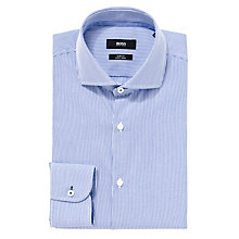 Buy BOSS Jery Fine Stripe Long Sleeve Shirt Online at johnlewis.com