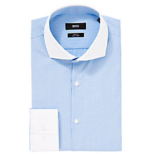 Buy BOSS Jonah Fine Stripe Shirt, Blue Online at johnlewis.com