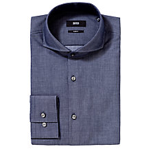 Buy BOSS Dwayne Denim Shirt, Blue Online at johnlewis.com