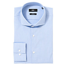 Buy BOSS Jason Micro Check Long Sleeve Shirt Online at johnlewis.com