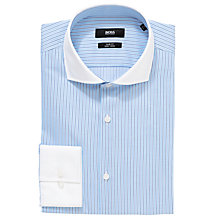 Buy BOSS Jonah Stripe Long Sleeve Shirt, Blue Online at johnlewis.com