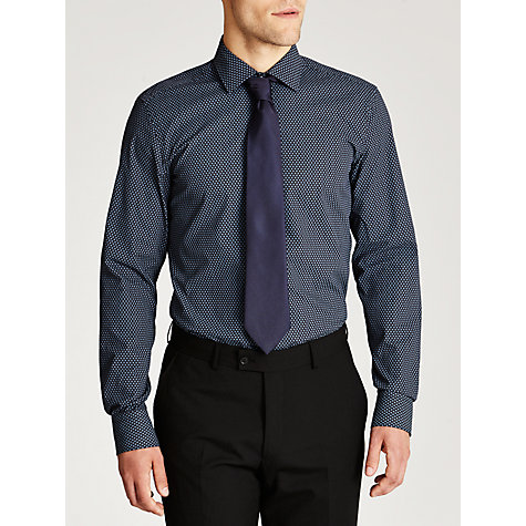 Buy BOSS Jenno Floral Micro Print Shirt, Navy Online at johnlewis.com