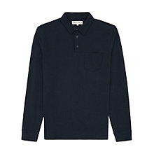 Buy Reiss Westland Pique Polo Shirt, Indigo Online at johnlewis.com