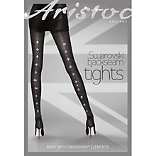 Buy Aristoc Swarovski Elements Backseam Tights, Black Online at johnlewis.com