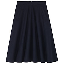 Buy Toast Ros Midi Flared Skirt, Navy Online at johnlewis.com