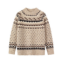 Buy Toast Caced Icelandic Sweater, Camel Online at johnlewis.com