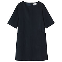 Buy Toast Ros Wool Blend Dress, Navy Online at johnlewis.com