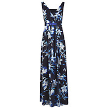 Buy Jacques Vert Tropical Print Dress, Dark Navy Online at johnlewis.com