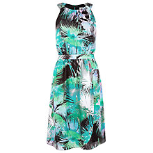 Buy Kaliko Palm Print Halter Neck Dress, Multi Online at johnlewis.com