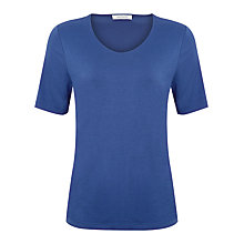 Buy Windsmoor Basic Jersey Top, Indigo Online at johnlewis.com